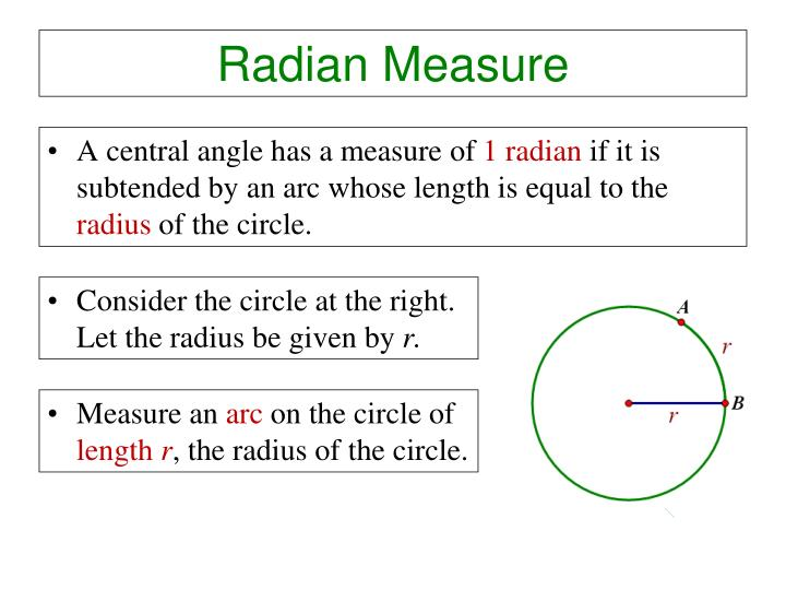 radian measure n.