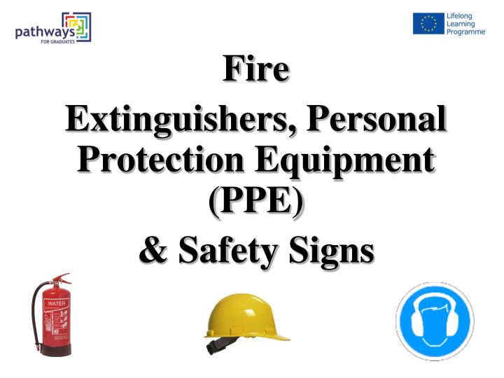 fire extinguishers personal protection equipment ppe safety signs n.