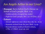 are angels active in our lives1