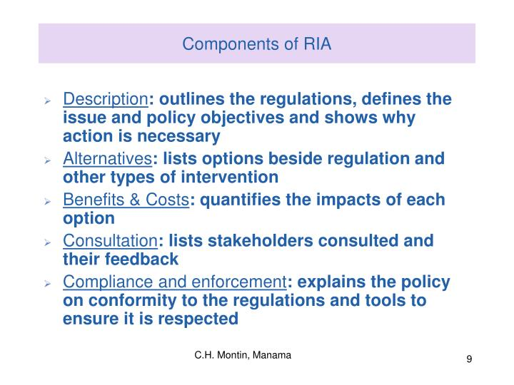 Components of RIA
