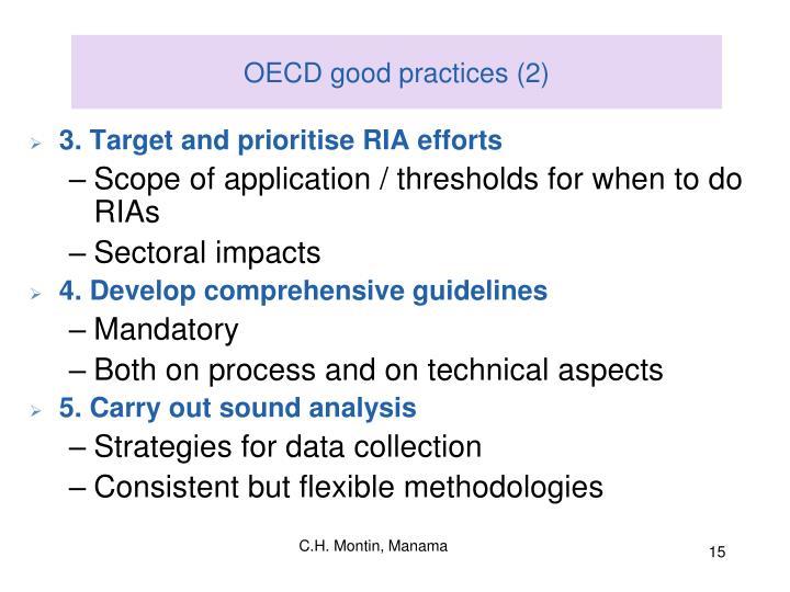 OECD good practices (2)