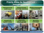 priority areas for development innovative clusters
