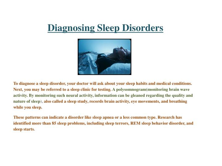 Diagnosing Sleep Disorders