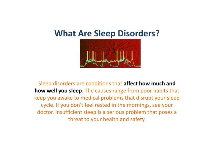 What are sleep disorders