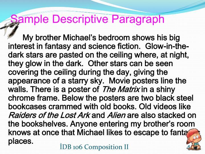 sample descriptive paragraph