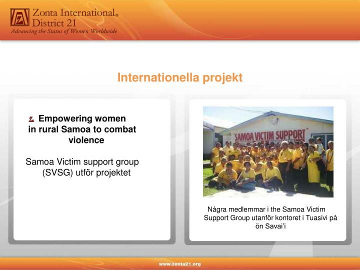 Internationella projekt