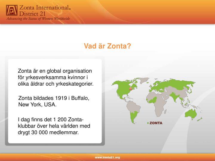 Vad är Zonta?