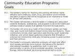 community education programs goals