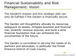 financial sustainability and risk management vision