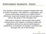 information systems vision