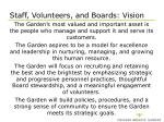staff volunteers and boards vision
