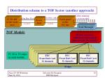 distribution scheme to a tof sector another approach