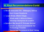 vi final recommendations contd