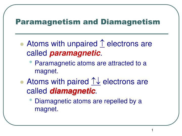 DIAMAGNETIC AND PARAMAGNETIC DOWNLOAD