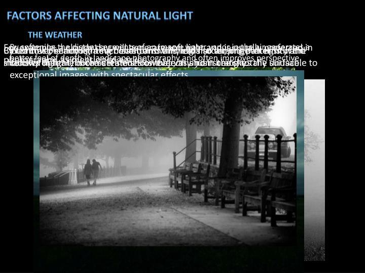 Factors affecting natural light