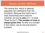 gauss jordan method2