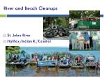 river and beach cleanups