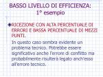 basso livello di efficienza 1 esempio