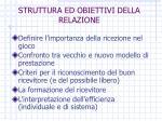 struttura ed obiettivi della relazione
