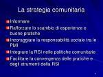la strategia comunitaria