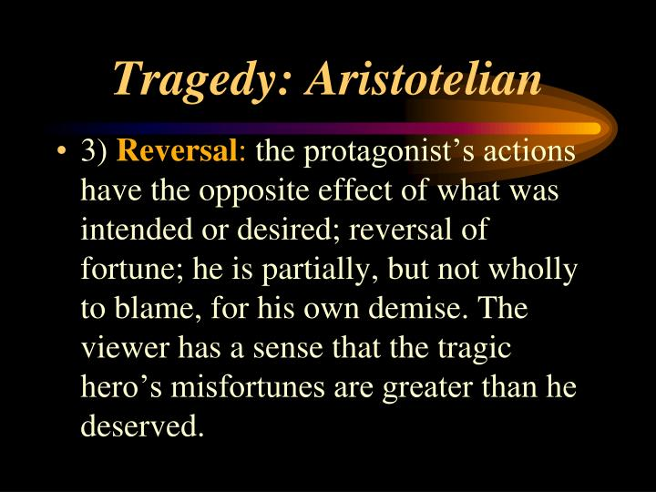 aristotelian tragedy vs modern tragedy Modern tragedy therefore adds irony to aristotle's mix retrieved from.
