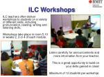 ilc workshops