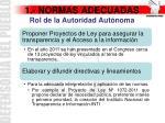 1 normas adecuadas rol de la autoridad aut noma