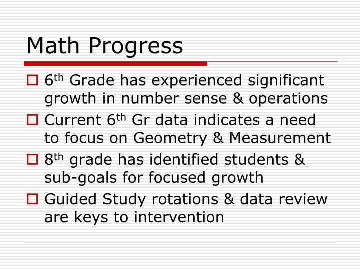 Math Progress