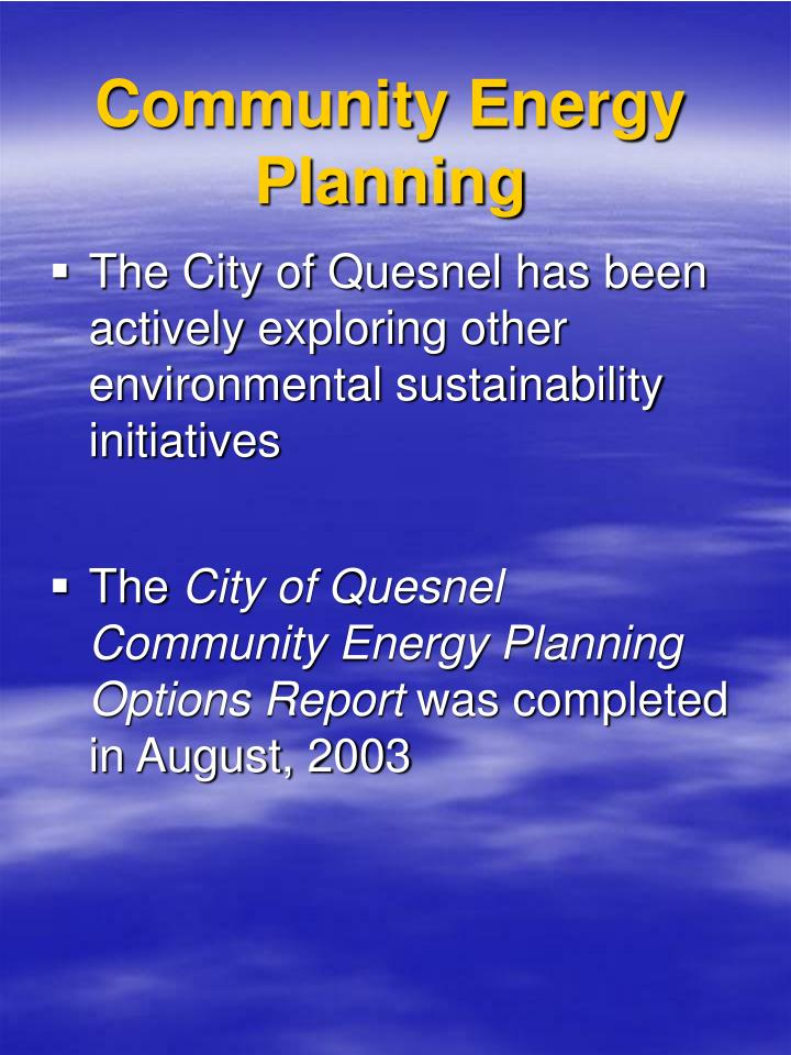 Community Energy Planning