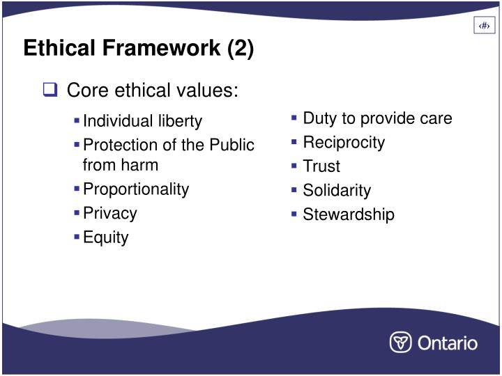 Core ethical values: