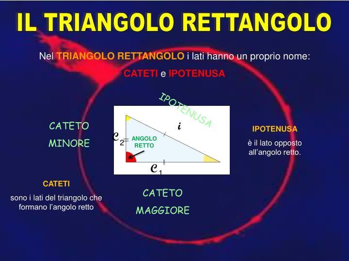 IL TRIANGOLO RETTANGOLO