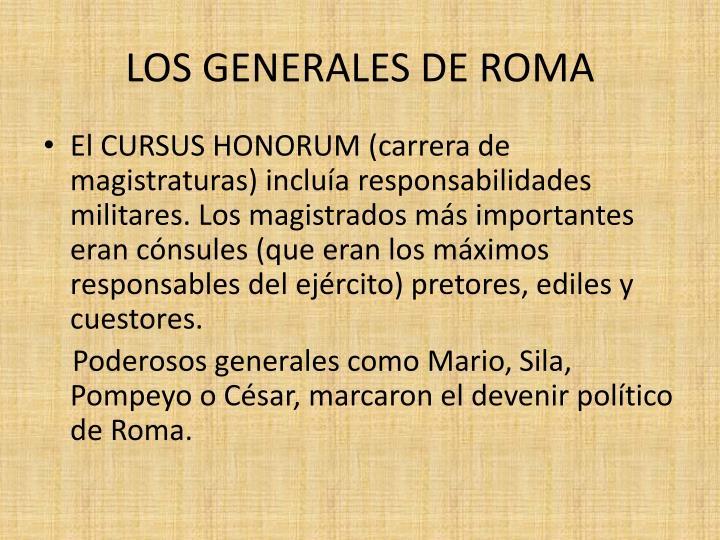 Los generales de roma