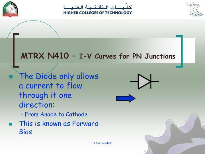 Mtrx n410 i v curves for pn junctions1