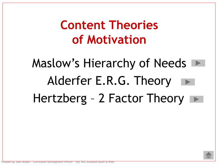 compare and contrast two theories of motivation