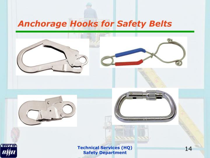 Anchorage Hooks for Safety Belts