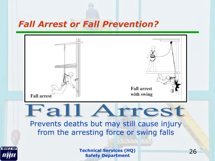 Fall Arrest or Fall Prevention?