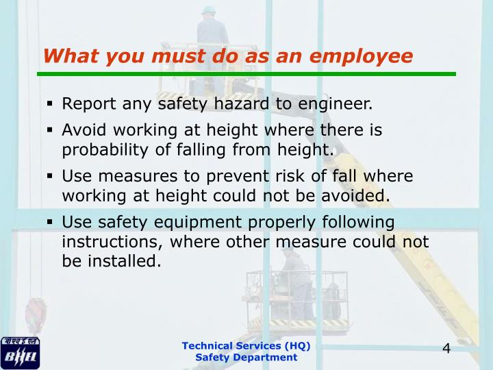 What you must do as an employee