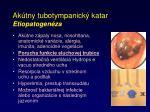 ak tny tubotympanick katar etiopatogen za