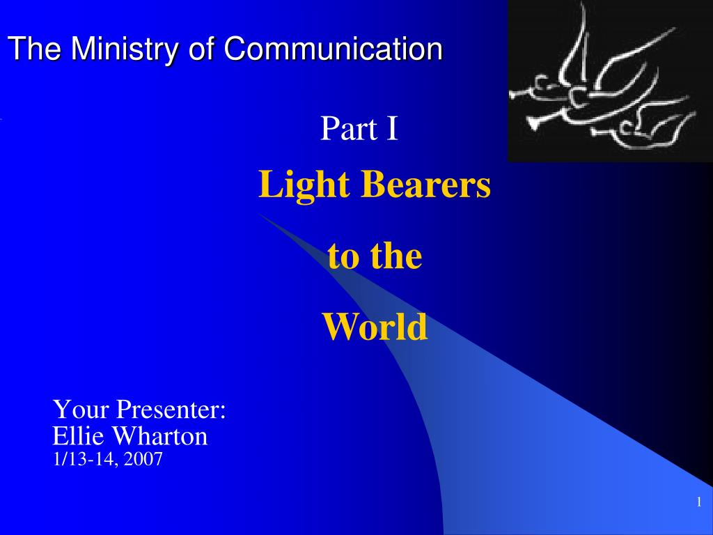 PPT - The Ministry of Communication PowerPoint Presentation - ID:4938513