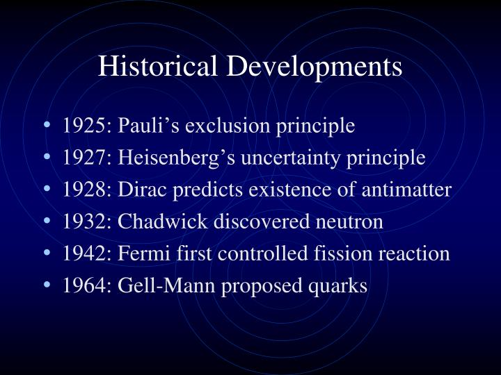 Historical developments1