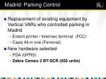 madrid parking control