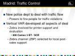 madrid traffic control