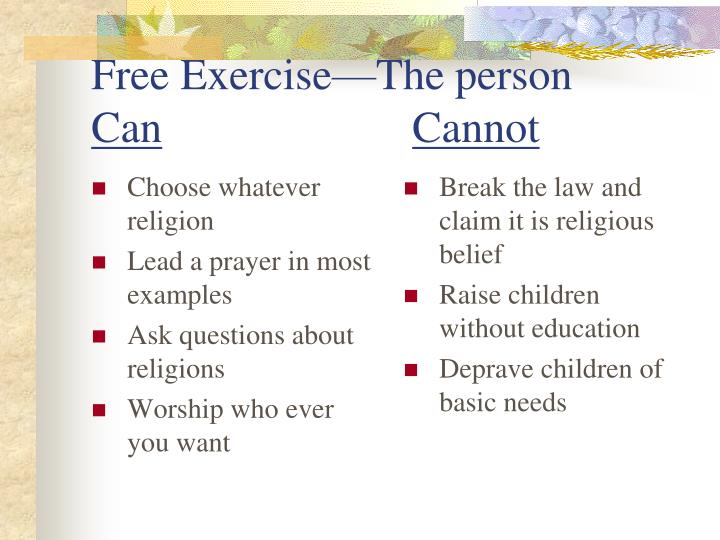 Choose whatever religion