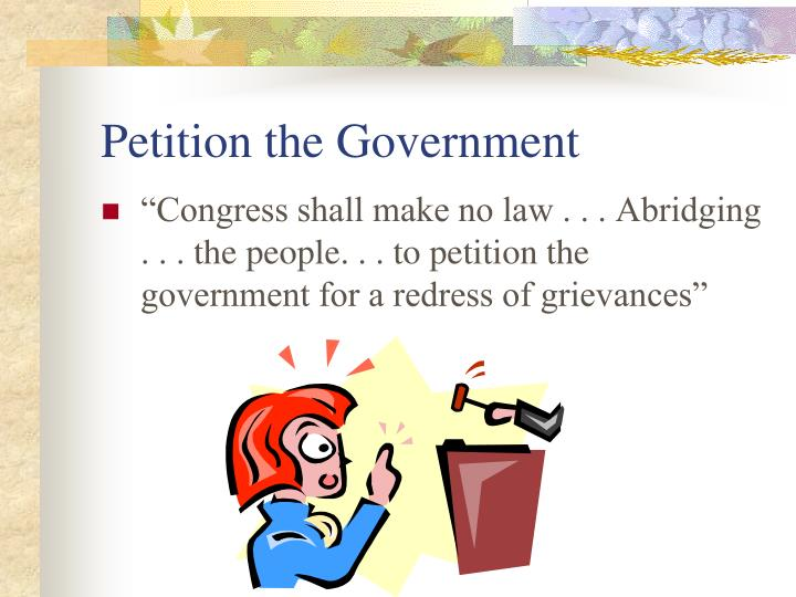 Petition the Government