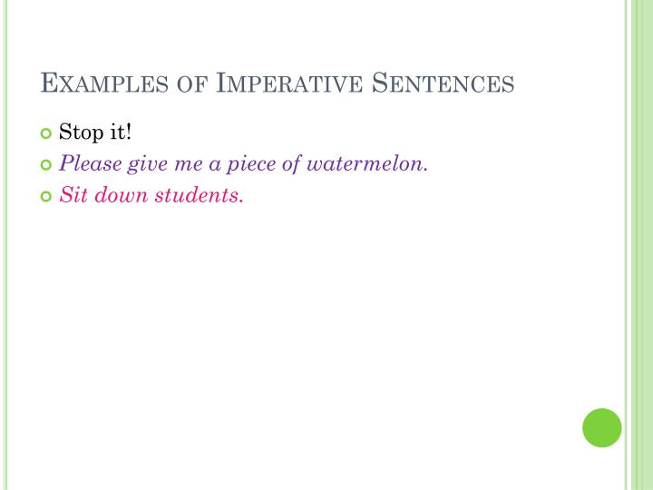 Ppt Kinds Of Sentences Powerpoint Presentation Id4939128