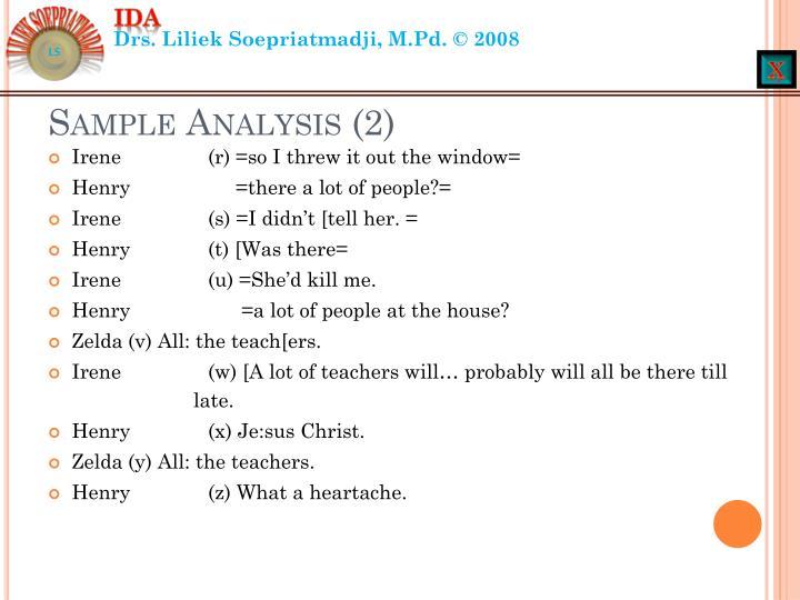 Sample Analysis (2)