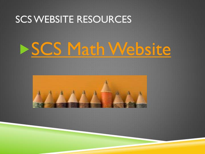 SCS Website resources