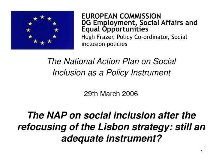 The National Action Plan on Social