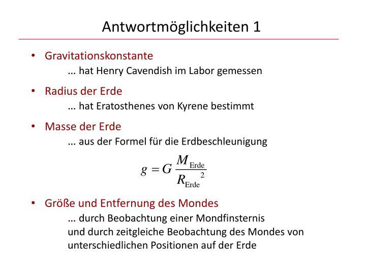 Gravitationskonstante