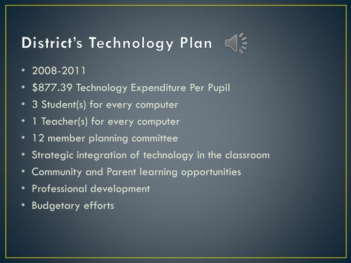 District s technology plan